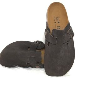 Betula Birkenstock Clog Slip On Brown Shoes